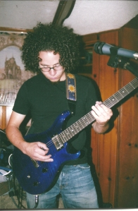 At rehearsal with Grand Vision Channel and my PRS. 2005