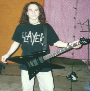 Me with my BC Rich Ironbird.
