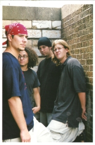 Still Small Voice posing for a promo shot in 2002.