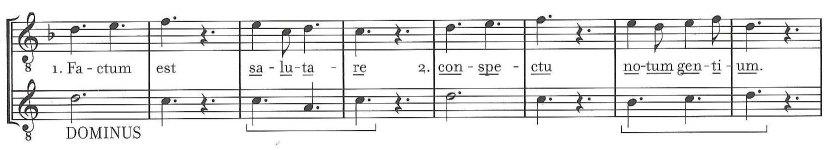 Factum est salutare Dominus (Burkholder 101) 3