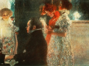 Schubert at the piano / Painting by Klimt, 1899.